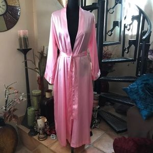 Other - Pink Satin Long Robe